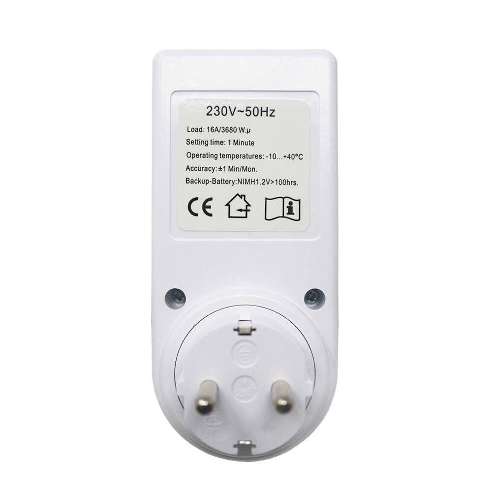 Plug-in โปรแกรมจับเวลาสวิทช์ดิจิตอลรายสัปดาห์ไฟฟ้า Wall Plug-in สวิทช์ Outlet นาฬิกา AC 230V