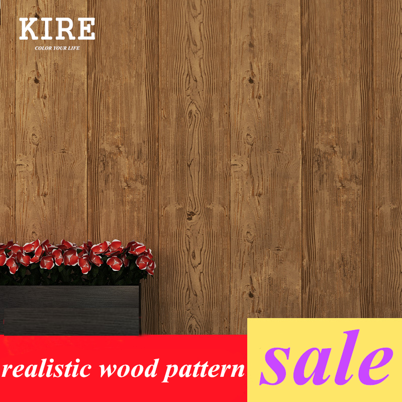 10 Meters PVC 3D Wood Vintage Wallpaper For Living Room Wooden Pattern Wall Paper Home Deco Restaurant Bar In Wallpapers From Improvement On