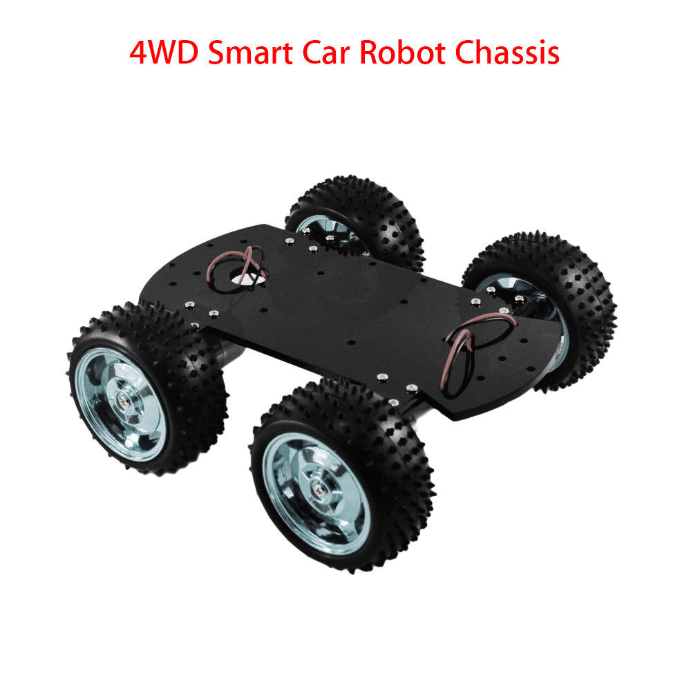 цена на Keyes 4WD Black Smart Car Chassis Manufacture DIY Kit for Arduino Professional Mini Free Shipping