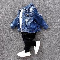 El Bebe Oso New Spring Autumn Kids Coat Baby Girls Boys Jacket Outwear Children Denim Jacket
