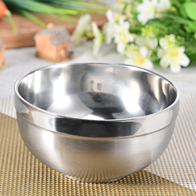 1 Pc Ultralight Stainless Steel Bowl Travel Camping Outdoor Tableware Bowl