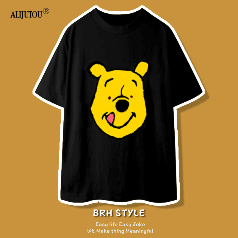 Winnie Summe T Shirt 90s new Women Cartoon Printed Animal Short Sleeve Cute Cartoon T-Shirts Harajuku Style Casual Loose Tops