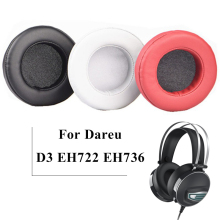 1 Pair Replacement Pillow Earpads Foam Ear Pads Cushion Cover Cups Repair Parts for DAREU D3  EH722 EH736 Headphones Headset