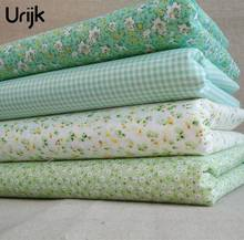 Urijk Mixed 4PCs/Lot 25*25cm Flower Printing Fabric Printing Fabric DIY Sewing Accessories Quilting Bedding Material Cloth Tissu