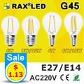 Lampada E27 LED Filament Light Dimmable Glass Blub Lamps 220V LED Edison chandelier E14 G45 240V Vintage Led Bulb 4W 8W 12W