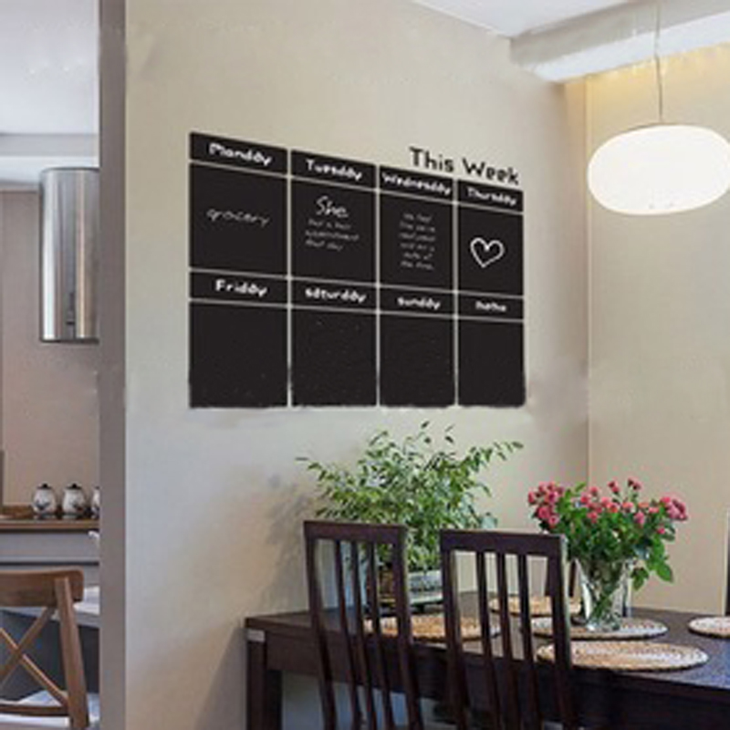 96110cm chic blackboard removable vinyl wall chalkboard sticker home decor weekly plan planner mural