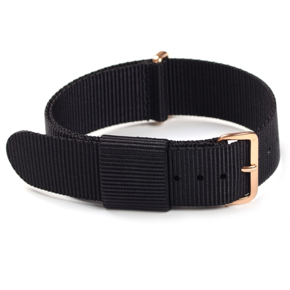 High Qulaity DW Design Ballistic Nylon Nato Watchband Colorful Watchband Silver &Rose Gold Buckle 18mm 20mm nylon watchband nato 20mm summer watchband general watchband watch female watchband male