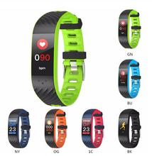 P4 Smart Wristbands Heart Rate Blood Pressure Monitor Bracelet Sport Fitness Tracker Men Women Smart Band for IOS Android Phone haiom new wristbands smart band heart rate monitor fitness bracelet w3 waterproof smart band bluetooth for ios android phone