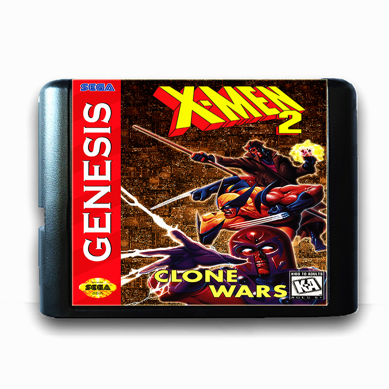 X-men 2 Clone Wars for 16 bit Sega MD Game Card for Mega Drive for Genesis Video Game Console