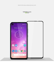 For Motorola One Vision moto 9D 6D 5D Full Glue Cover Tempered Glass Screen Protector for Power Film