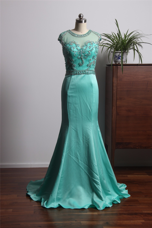 vestido de gala New Design Light Green Prom Dresses 2018 Long ...