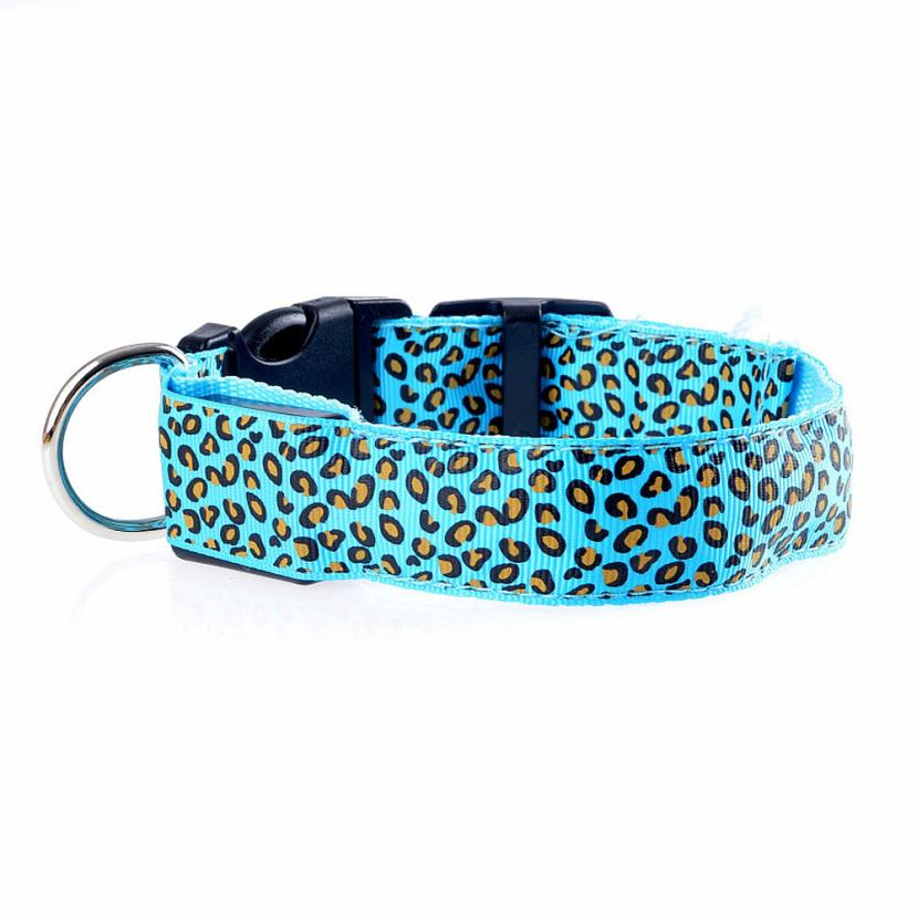 Nylon Led Pet Dog Collar Night Safety Flashing Glowing Collar Leash For Dogs Luminous Fluorescent Pet Supplies Drop Shipping #ys #6
