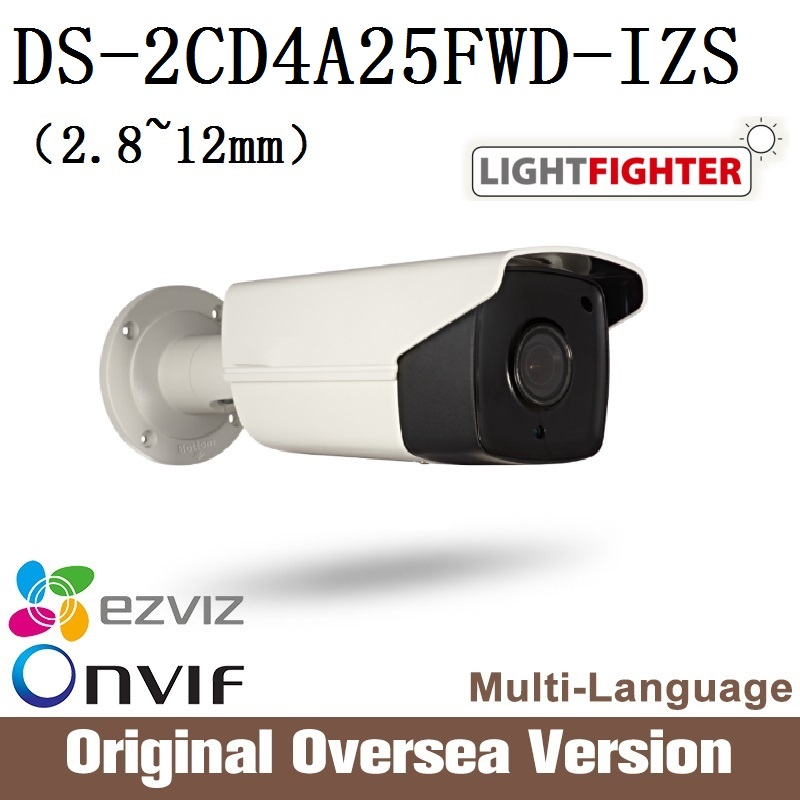 HIKVISION Ip Camera DS-2CD4A25FWD-IZS Bullet 1080p Poe Ip67 smart IR WDR Onvif RJ45 support upgrade original English Version видеокамера ip hikvision ds 2cd2642fwd izs цветная