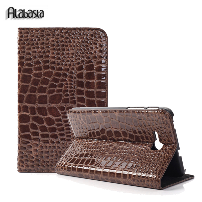 Case For Samsung Galaxy Tab 3 Lite 7.0 T110 T111 T113 T116 Alabasta Tablet Flip Stand cover case Crocodile Pu Leather shell flip left and right stand pu leather case cover for blu vivo air