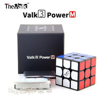 QiYi Mofangge Valk3 Power M With Magnets 3x3 Stickerless Black 3layer Speed Cubo Magico Professional Funny