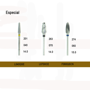 5pcs Tungsten carbide finishing burs HP Durable Tungsten carbide cutters with Especial cross