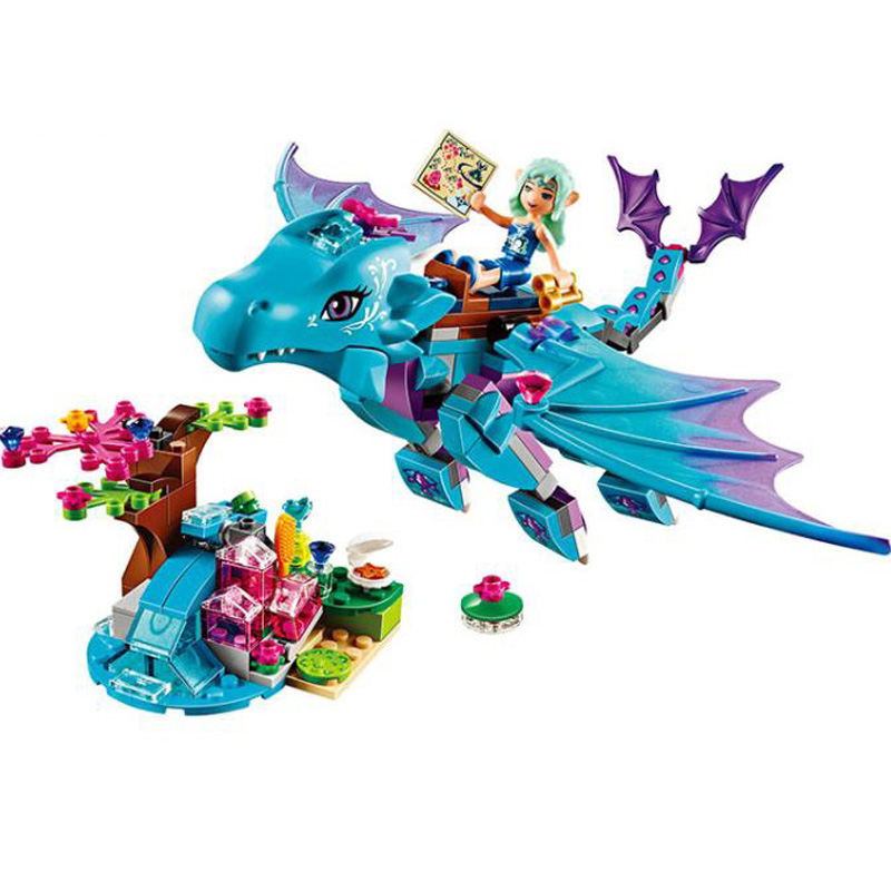10500 Fairy Elves The Water Dragon Building Bricks Blocks Sets Girls Christmas gift Toys Compatible Friends 41172 2018 new girl friends fairy elves dragon building blocks kit brick toys compatible legoes kid gift fairy elves girls birthday