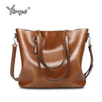 YBYT Brand 2017 New Women PU Leather Large Capacity Totes Bucket Bags Ladies Shopping Package Female