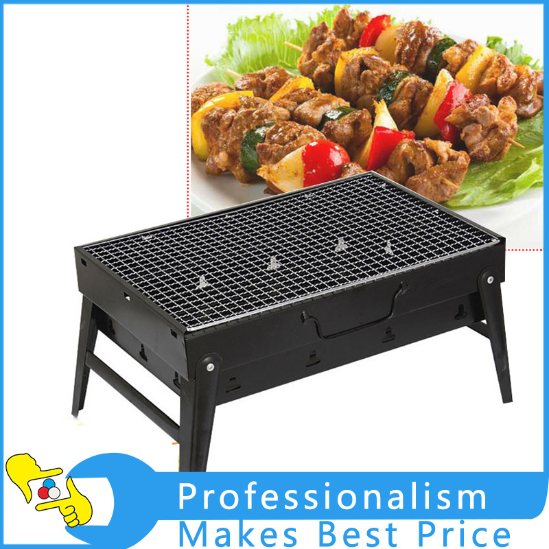 Medium Thickened Outdoor Portable Barbecue Oven Folding Barbecue Grill Household Charcoal Carbon Oven BBQ Tools 3 5 people outdoor picnic thick stainless steel barbecue grill portable folding grill barbecue tools