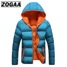 ZOGAA 2019 Men Winter Casual New Hooded Thick Padded Jacket Zipper Slim And Women Coats Parka Outwear Warm Coat