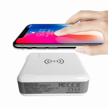 For Samsung Note 8 / S 9 Plus Wireless Charger Adapter 3in1 Portable Detachable Travel Charger / 6700mAh Power Bank / USB- A / C