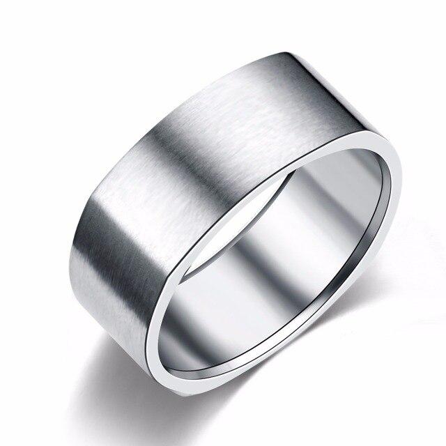 8mm Edelstahl Ring Hochzeit Engagement Platz Ringe Frauen Manner In