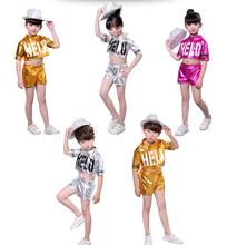 2019 Children Jazz Dance Costumes Glisten Boys Girls Hip-hop Modern Dance Performances Clothing Set Kids Jazzy Dance Wear цены