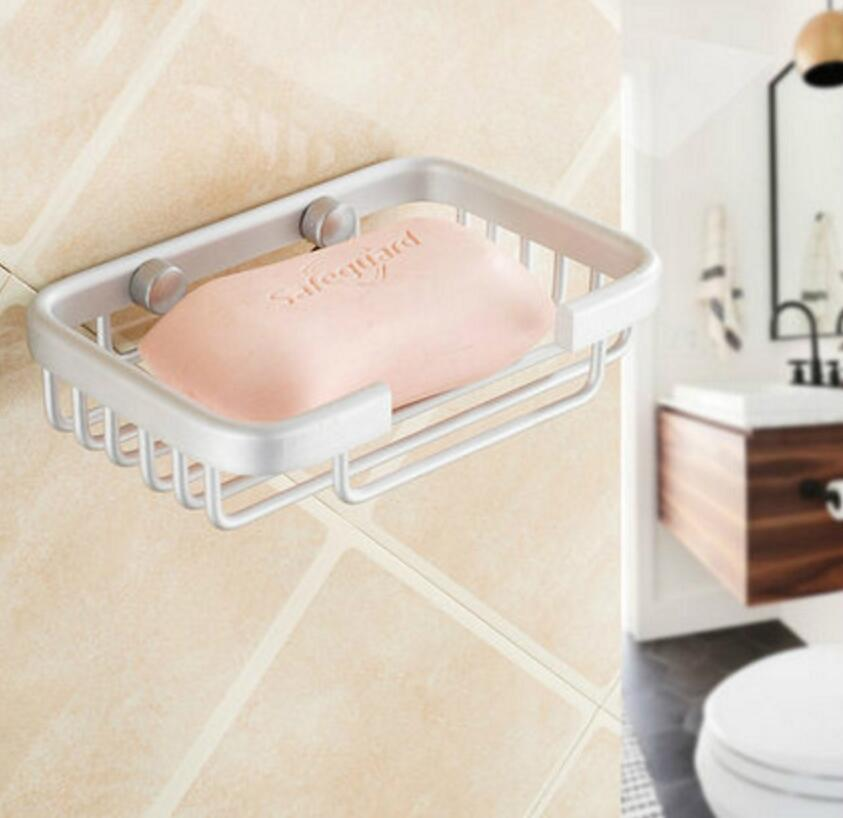 Bathroom Shower Soap Shampoo Holder Aluminum Space Bath Soap Dish Wall  Mounted In Storage Holders U0026 Racks From Home U0026 Garden On Aliexpress.com |  Alibaba ...