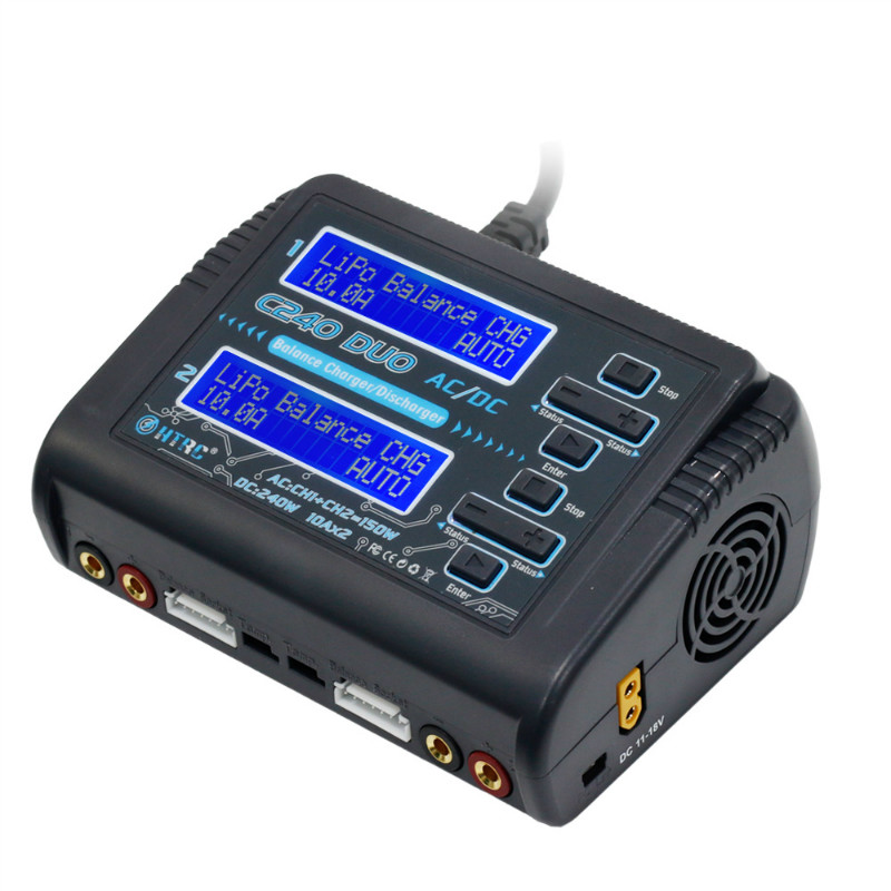 HTRC C240 DUO AC 150W DC 240W 10Ax2 Dual Channel RC Battery Balance Charger For RC