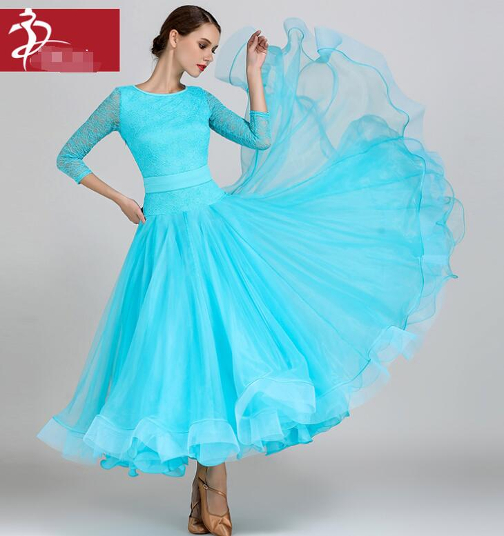 standard ballroom dresses lace waltz ballroom dance dress women competition dance costumes ballroom practice dress dance