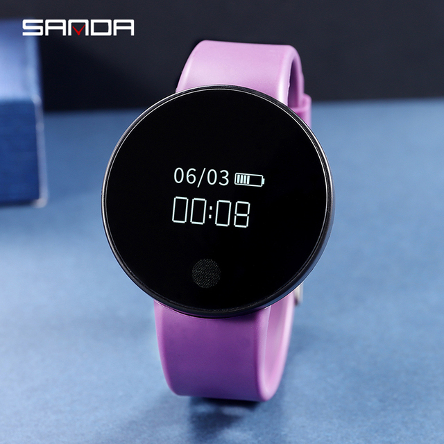 SANDA Bluetooth Smart Watch Women 2018 Relogio Masculino Watch Smart Pedometer B