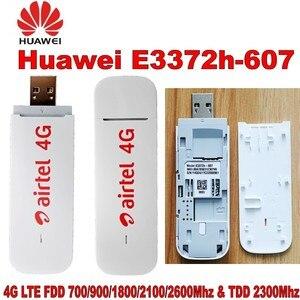 Image 2 - Huawei 4G USB Modem E3372 E3372h 607 4G LTE 150Mbps USB Dongle 4G USB Stick Datacard plus with 2pcs Antenna for huawei