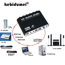 5.1 ch decodificador de áudio spdif coaxial para rca dts ac3 óptico digital para 5.1 amplificador conversor analógico amplificador hd áudio rush