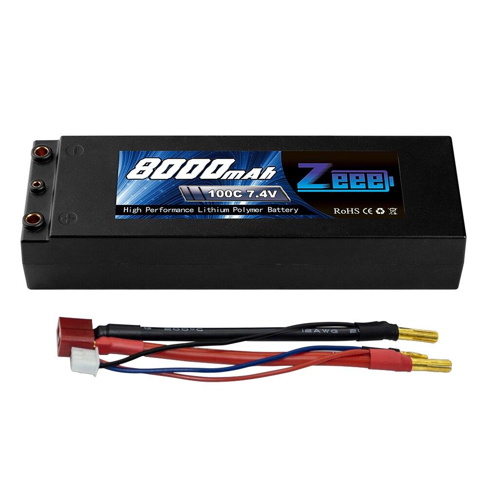 Zeee 7.4 V lipo batterie 8000 mAh RC voiture 100C batterie lipo 2 s batterie Rechargeable pour RC voiture bateau camion rugir avec Deans T Plug