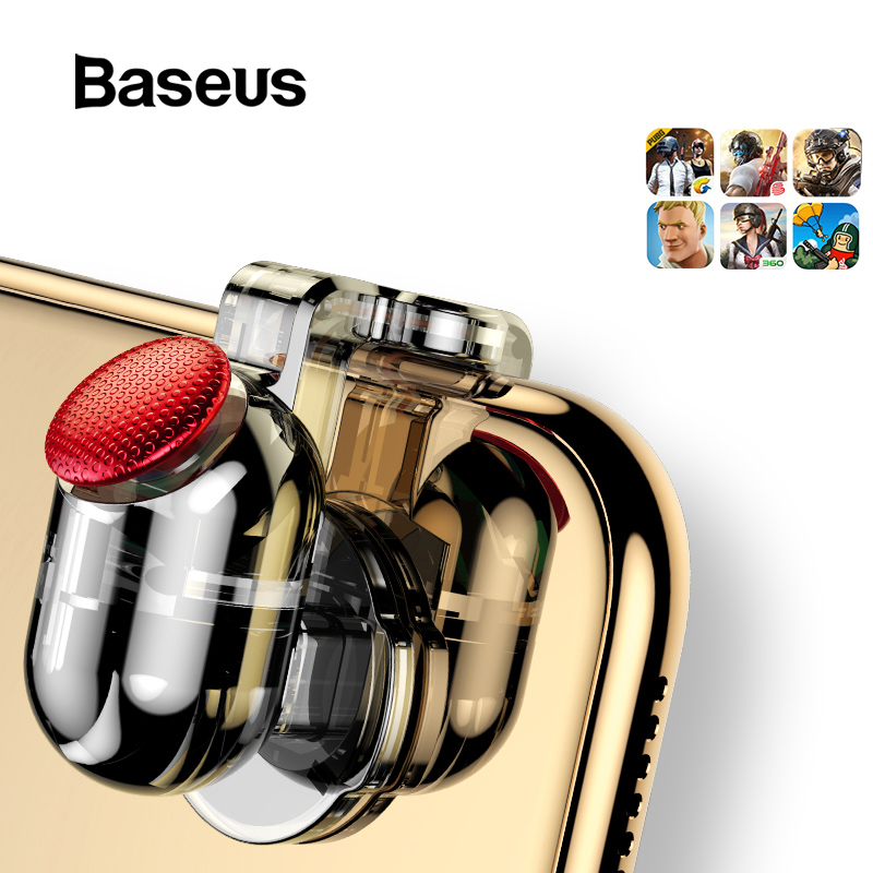 Baseus for Pubg Game Gamepad L1 R1 Gamepad Trigger for iPhone XR Xs Max Aim Fire Button for 4.0-6.5inch Mobile Phone Accesorios