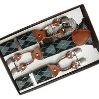 6 зажимов мужские подтяжки y-образные жаккардовые подтяжки эластичные регулируемые брюки подтяжки ремень Bretelles Hommes для брюк