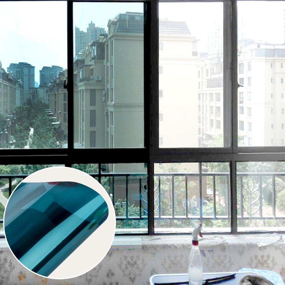 Baru Cara Solar Reflektif Cermin Isolasi Jendela Film Tint Diri