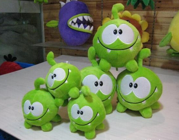 2017 So Kawaii 720cm Om Nom Frog Plush Toys Cut the Rope Soft Rubber Cut the Rope Figure Classic Toys Game Lovely Gift for Kids