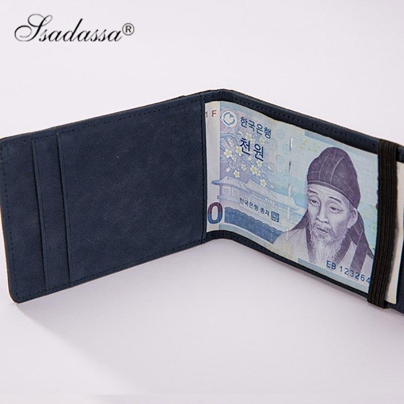 Koreanska Pengar Clip Wallet Elastic vintage plånbok mode nya 2018 - Plånböcker - Foto 1