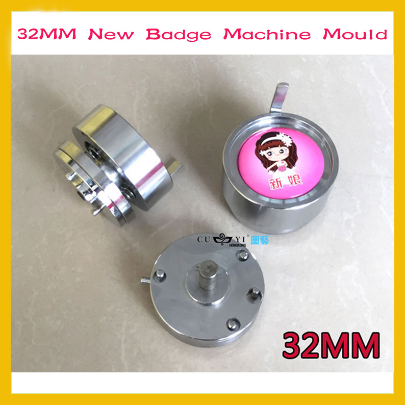 New Badge Machine Mould 32mm Personality Badge Machine Mirror Bottle Opener Refrigerator Production Mold купить недорого в Москве