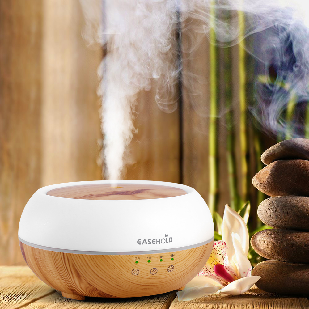 Easehold 300ml Aroma Essential Oil Diffuser Ultrasonic Cool Mist Humidifier LED Night Light for Office Home