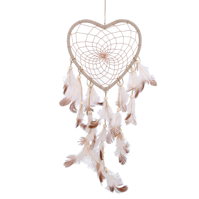 Feather Heart Dream Catcher