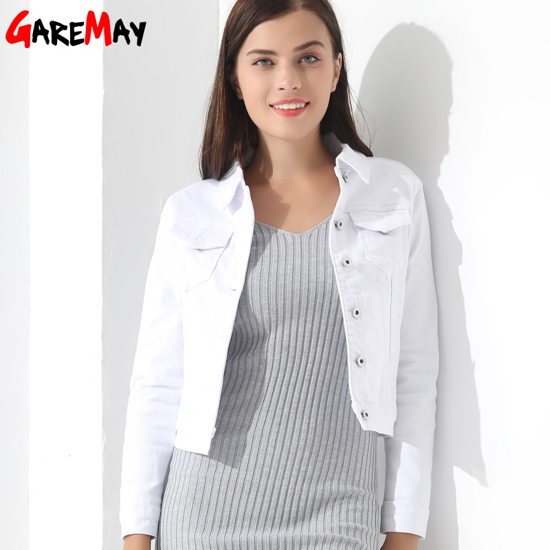 GAREMAY Basic Jeans Jacket Women White Spring Woman Denim Denim Womens Coats And Jackets Jean Slim GAREMAY Basic Jeans Jacket Women White Spring Woman Denim Denim Womens Coats And Jackets Jean Slim Short Coat Jacket Feminina