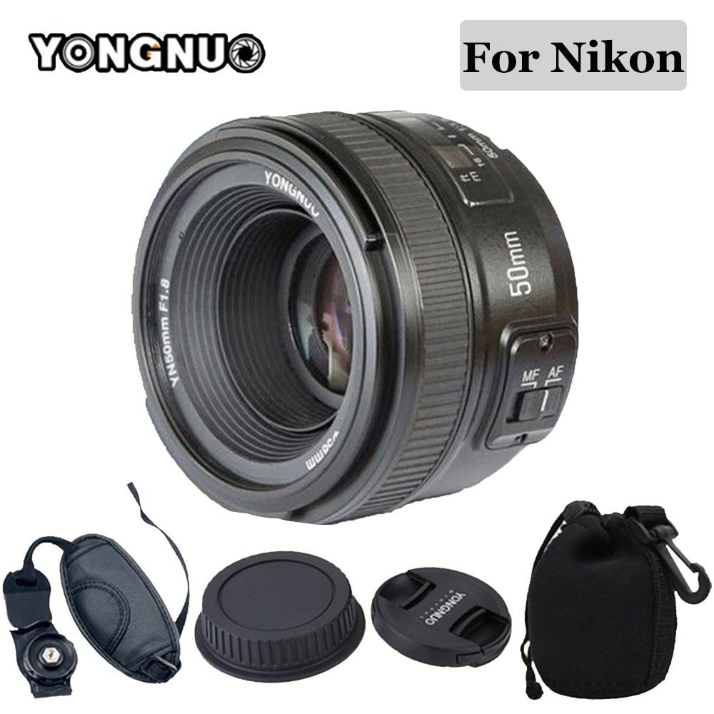 YONGNUO YN50MM F1.8 Large Aperture Auto Focus Lens for Nikon d7100 d3100 d5300 d7000 d90 d5200 d7200 d750 d610 , 50mm f1.8 Lens meike mk d750 battery grip pack for nikon d750 dslr camera replacement mb d16 as en el15 battery