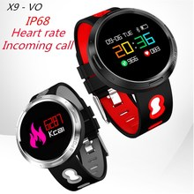Original X9-VO IP68 Waterproof Bluetooth 4.0 Smart Wristband with Sleep Monitor Heart rate track Smart Bracelet for Android IOS