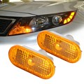 1 Par Auto Car Luces de Fuente de Luz de Marcador Lateral Para Vw Mk4 Golf/Jetta Para Passat B5/B5.5 Guardabarros OE Ámbar