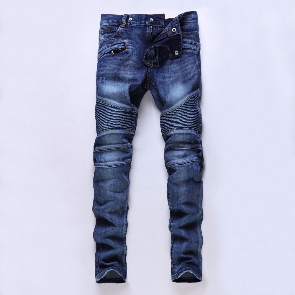 Four seasons can wear High quality men's jeans Casual