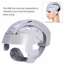 Brain Easy Head Massager Electric Head Massage Machine Home Electric Scalp Relax Acupuncture Points Brain Massage instrument цены онлайн