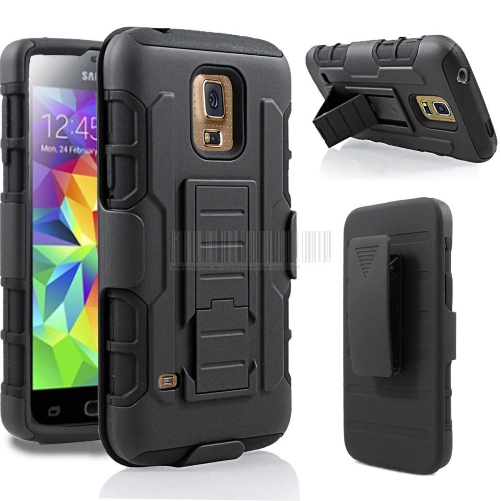 Hybrid Armor Case Holster Kick Stand Hard Cover + Belt Clip For Samsung Galaxy S3/S4/S5 Mini/S6/S7 Edge/Edge Plus G935/Active