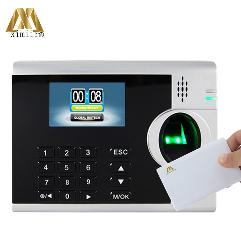 LINUX System Fingerprint Time Attendance Equipment With TCP/IP 3inches TFT Screen XM218 MF IC Card Biometric Time Recorder